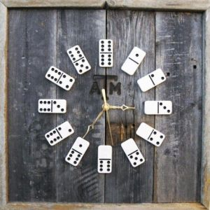 Fathers Day Domino Clock